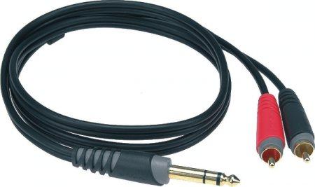 KLOTZ KL-AY3-0200 2M Y 6.3 ST.-JACK = RCA-RCA AUDIÓ KÁBEL